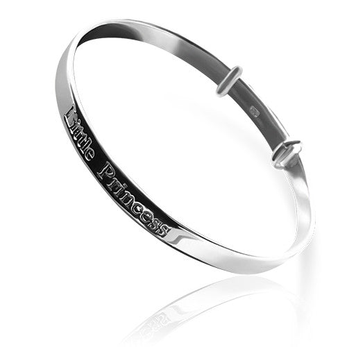 Lorena sterling silver christening bangle
