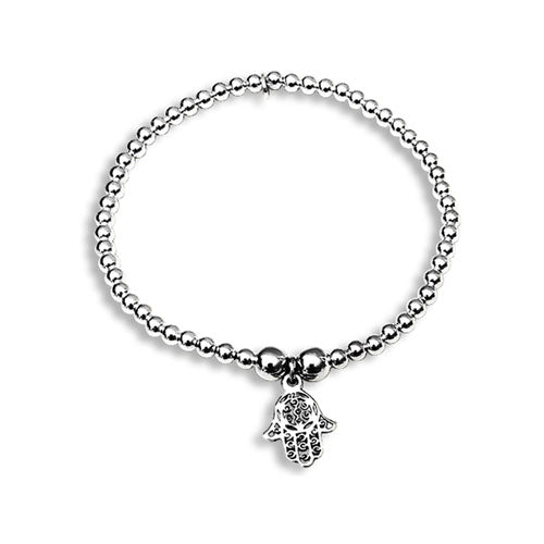 Lorena sterling silver hand of Fatima stacking bracelet