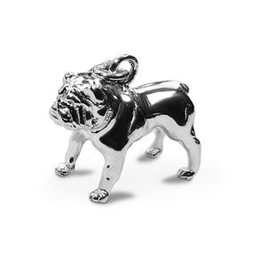 Perro pooch sterling silver Bull dog charm