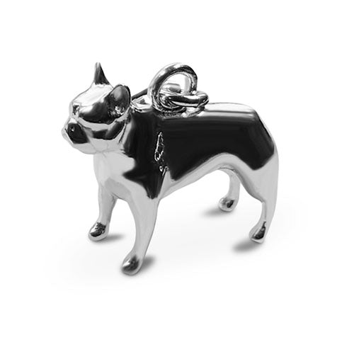Perro pooch sterling silver French bull dog charm