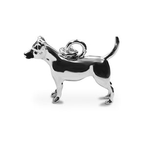 Perro pooch sterling silver Jack russell charm