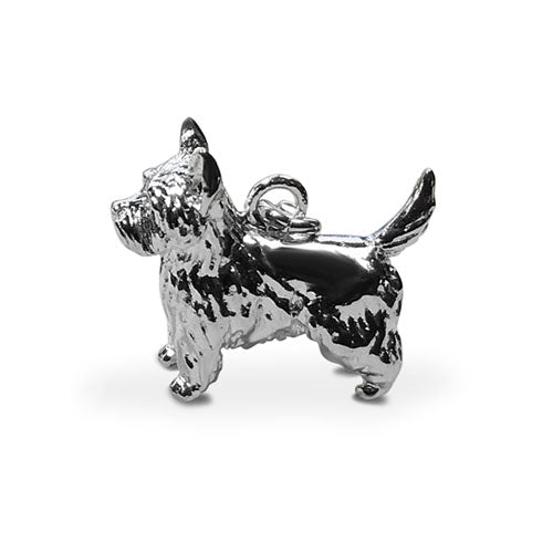 Perro pooch sterling silver West Highland Terrier dog charm