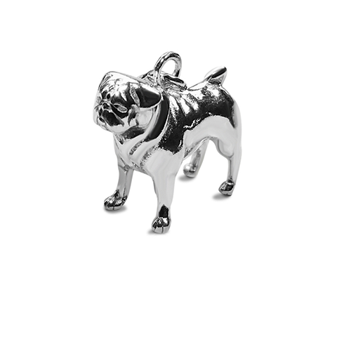 Perro pooch sterling silver pug charm silver jewellery image