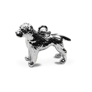 Sterling Silver Border Terrier Clip on Charm