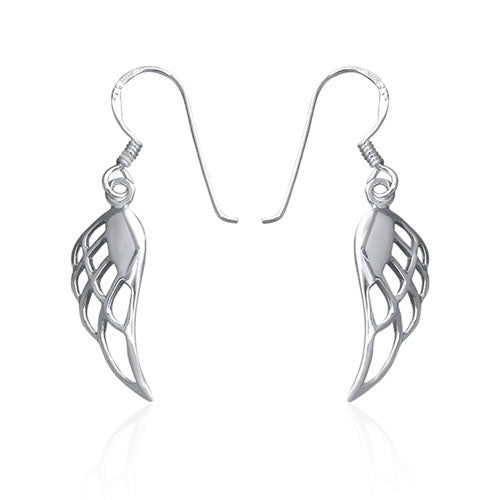 Sterling silver angel wing earrings