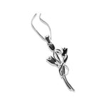 Sterling silver bouquet necklace