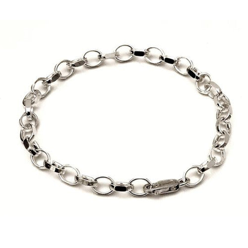Sterling silver Bracelet For Clip On charms