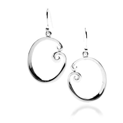 Sterling silver large circular earrings