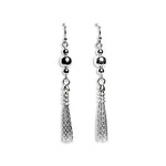 Sterling silver long tassel earrings