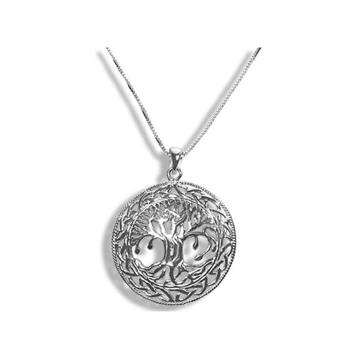 Sterling Silver Large Tree Of Life Necklace