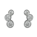 Sterling silver with cubic zirconia stone earrings