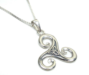 Sterling silver celtic traditional necklace by Lorena Silver Jewellery Necklaces