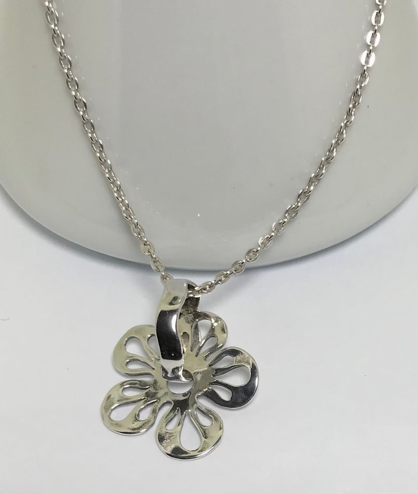 Sterling Silver Handmade Flower Necklace