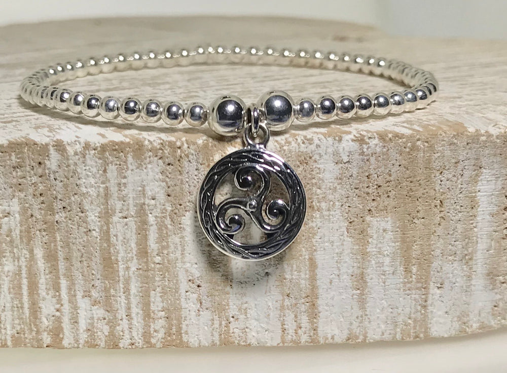 Lorena Sterling Silver Celtic Stacking Bracelet
