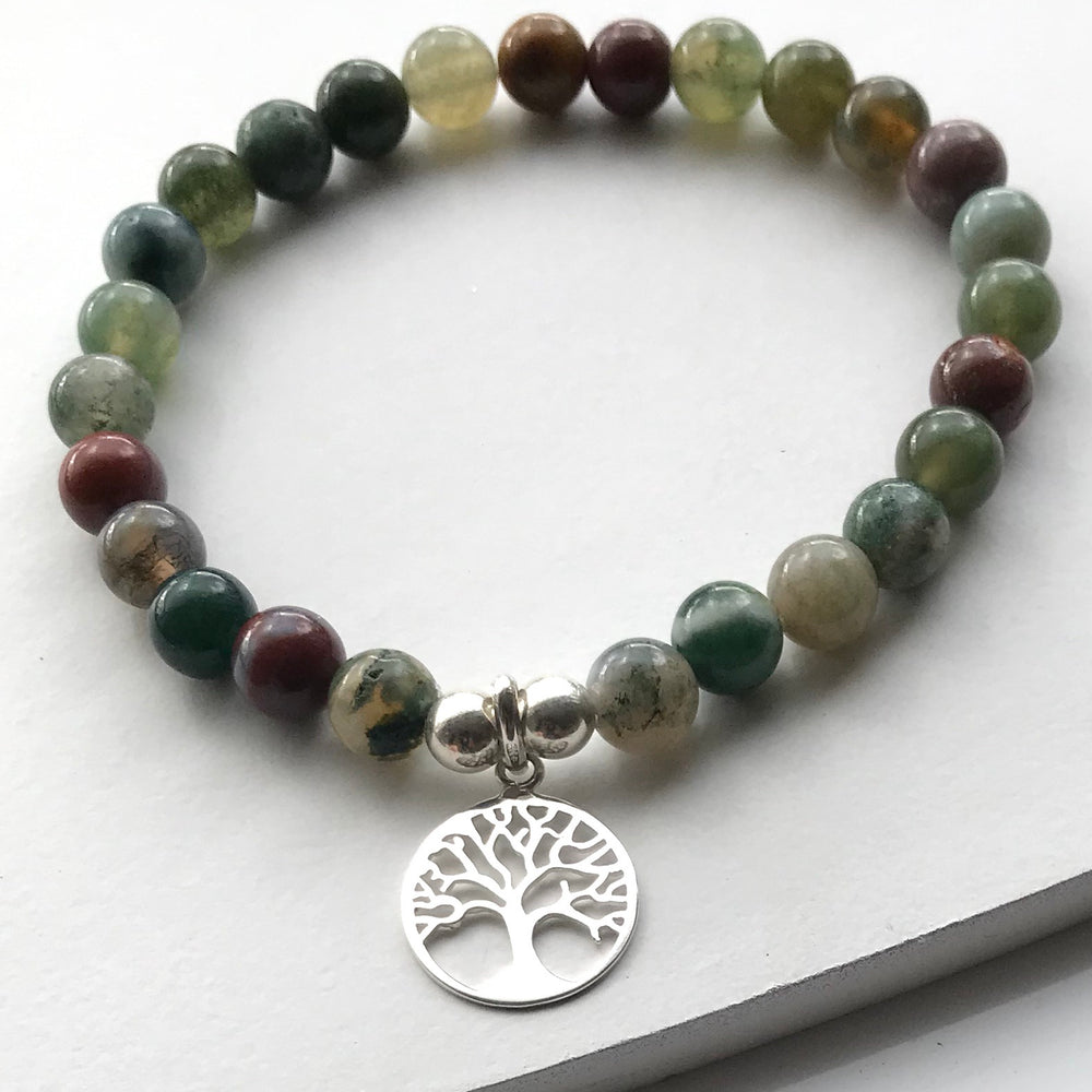 Agate Semi Precious Tree of Life Bracelet