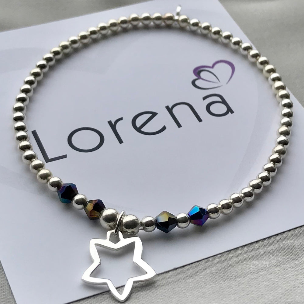 Sterling Silver Star Stacking Bracelet