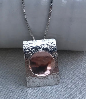 Sterling Silver And Copper Handmade Necklace