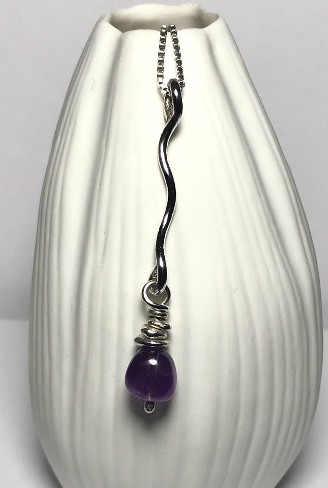 Sterling Silver Handmade Amethyst Necklace