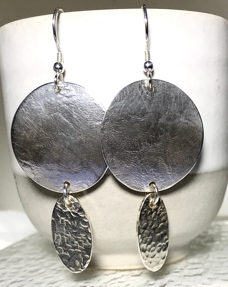 Sterling Silver Handmade Disk Earrings