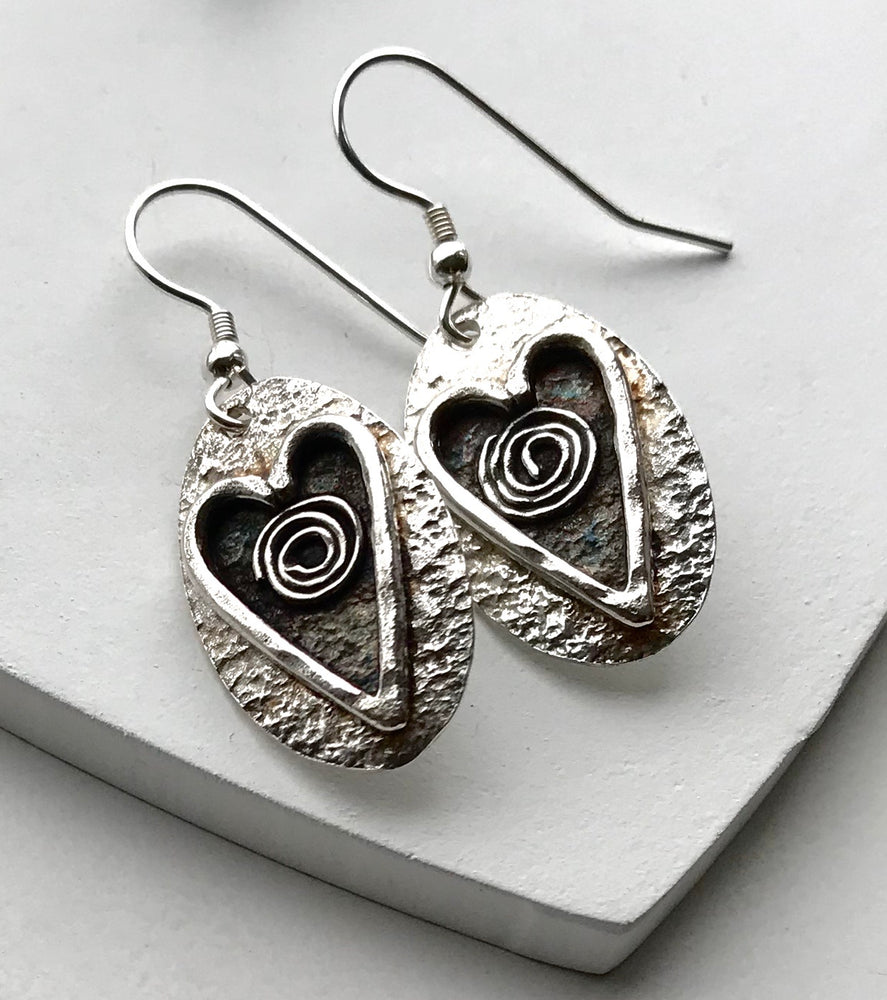 Sterling Silver Handmade Quirky Earrings
