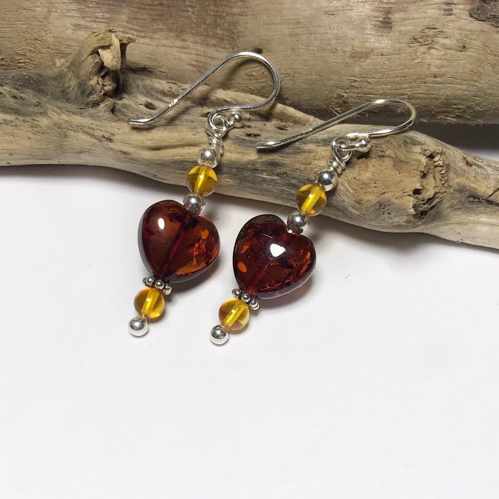 Amber Drop Handmade Earrings