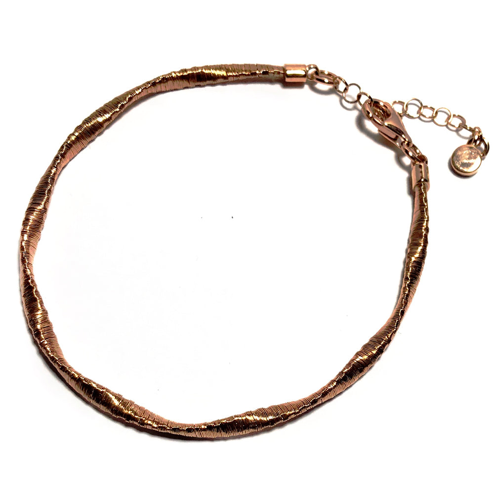 Sterling Silver Rose Gold Plated Bracelet ( special offer )