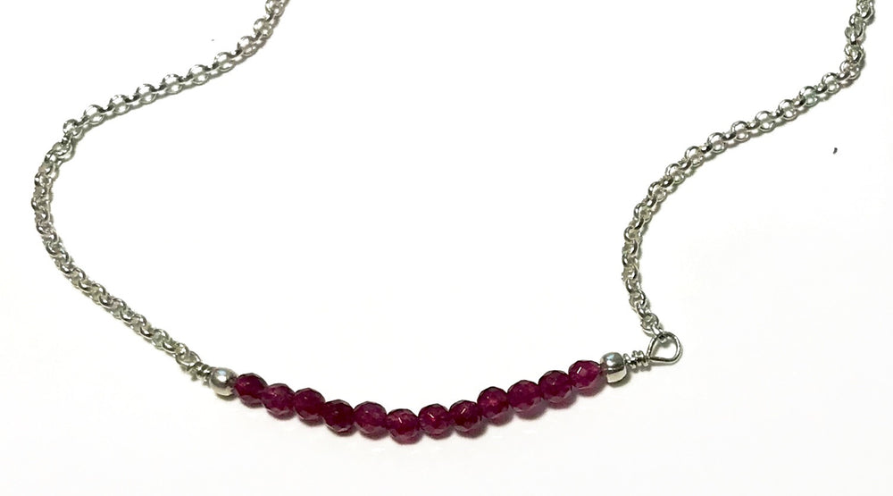 Handmade Sterling Silver Ruby Necklace