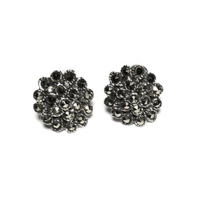 Sterling Silver Marcasite Stud Earrings