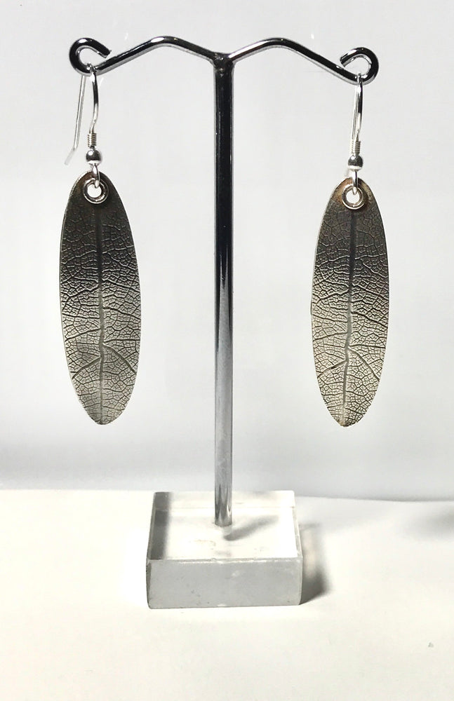 Sterling Silver Handmade Leaf Earrings