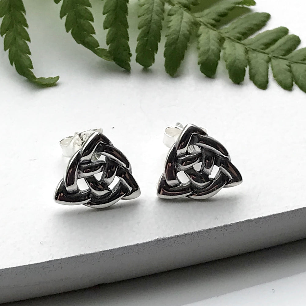 Celtic Design Sterling Silver Stud Earrings