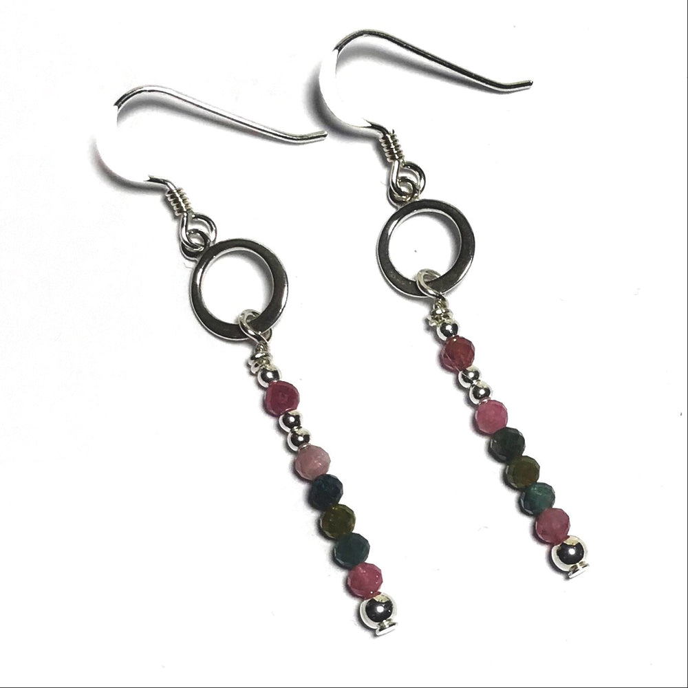 Sterling Silver Tourmaline Earrings