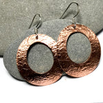 Copper Medium Size Oval Earrings