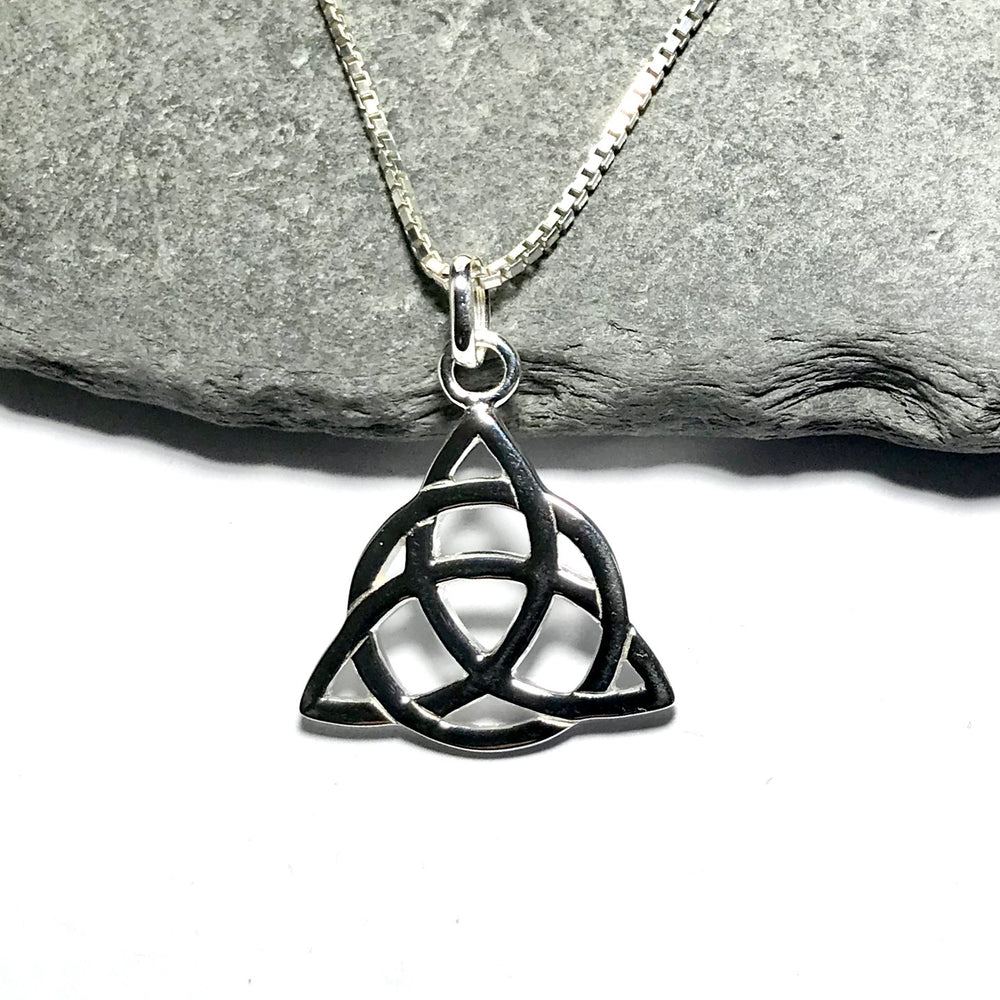 Sterling Silver Triquetra Celtic Knot Necklace