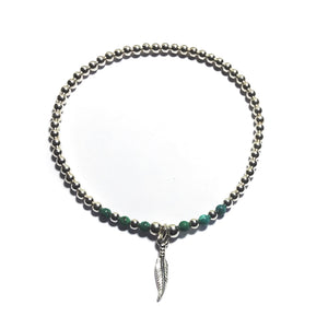Lorena Silver Feather Stacking Bracelet