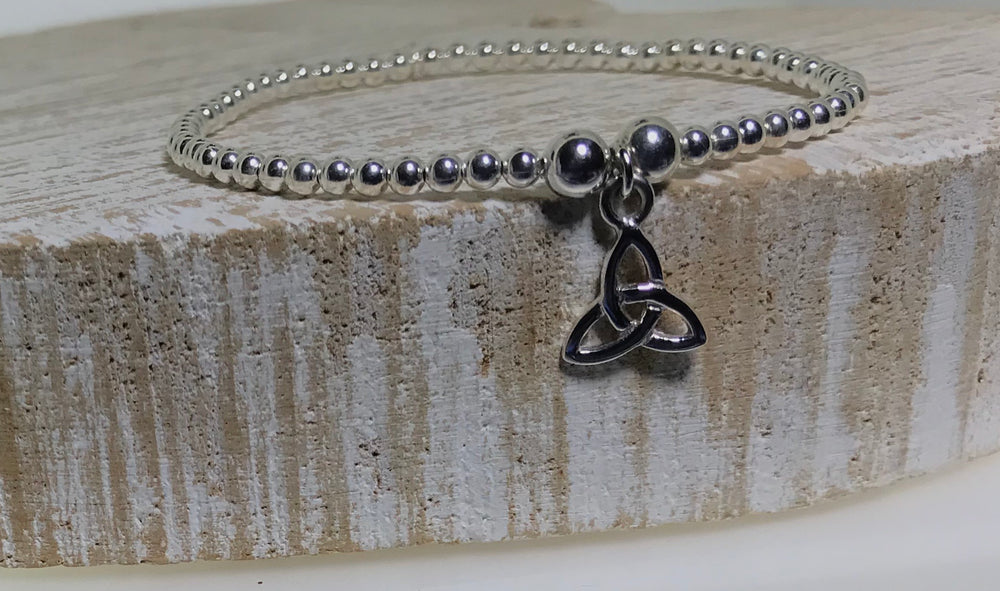 Lorena Silver Celtic Stacking Bracelet
