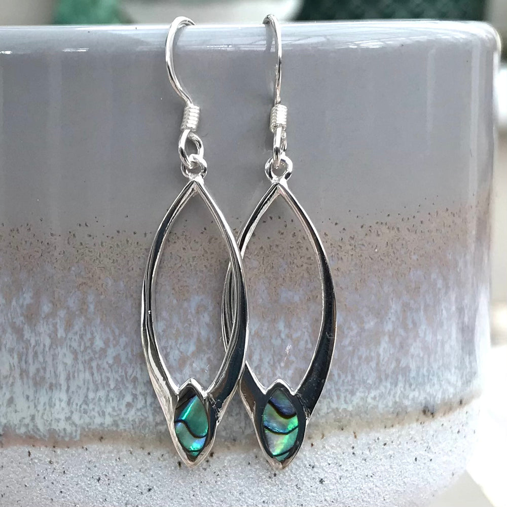 Sterling Silver Marquise Shape Earrings