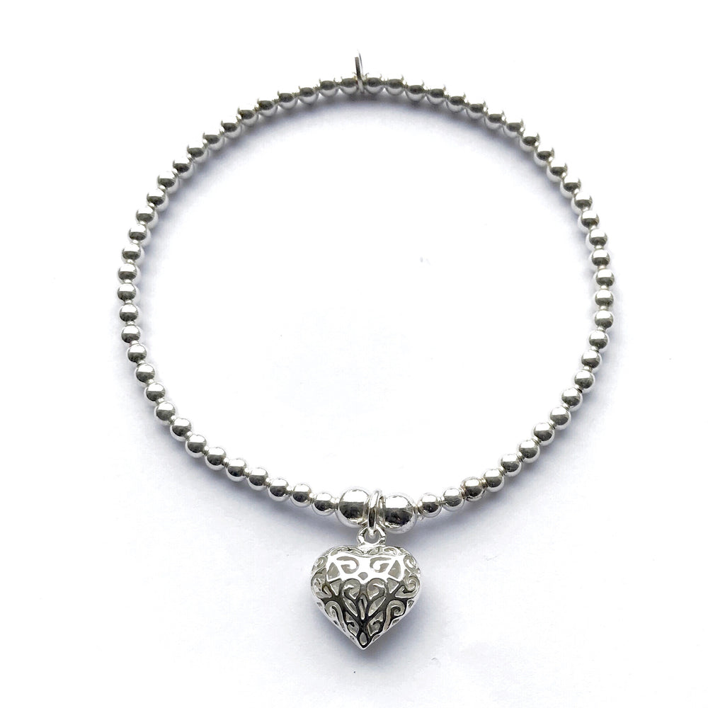 Lorena Sterling Silver Heart Stacking Bracelet