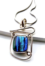 Sterling Silver Large Dichroic Necklace