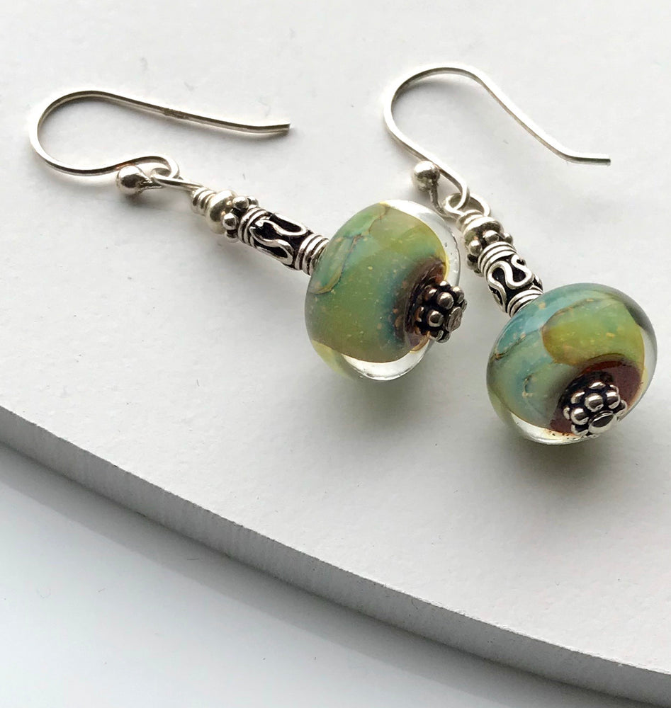 Sterling Silver Handmade Lampwork Earrings
