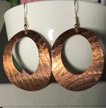Large copper Handmade Earrings