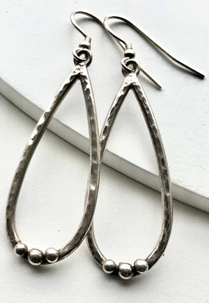 Sterling Silver Handmade Long Drop Earrings