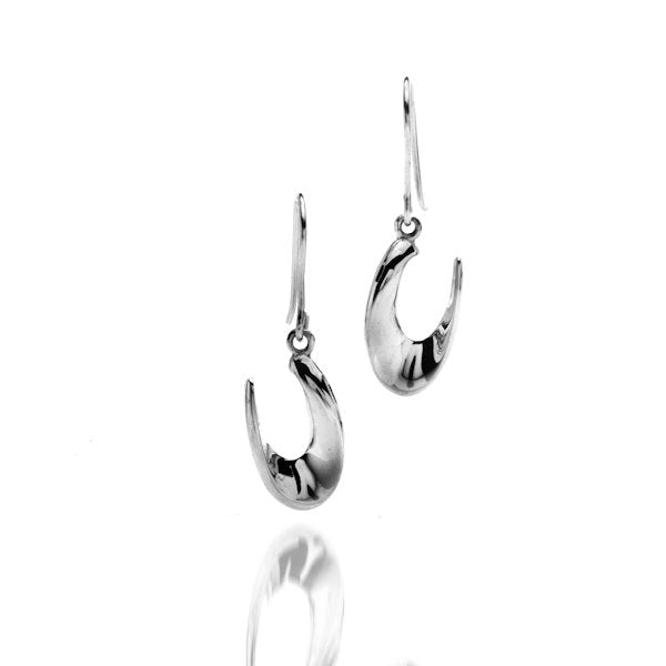Sterling silver contemporary earrings by Lorena Silver Jewellery Necklaces