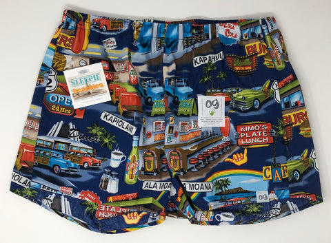 Hawaii Americana Retro Sleepie Beachies Boxer Shorts
