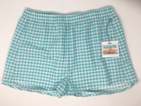 Aqua Gingham Check Sleepie Beachies