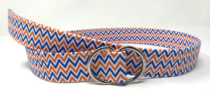Orange and Blue Chevron Belt