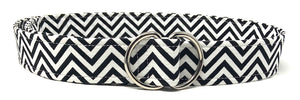 Black and White Chevron Belt
