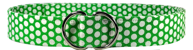 green and white polka dot belt by oliver green