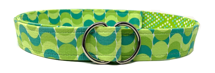 Green Geometric Belt