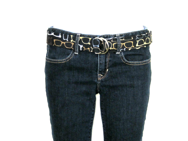 oliver green style muffy d-ring belt in jeans