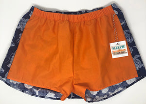 Orange and Navy Nautical Sleepie Beachies